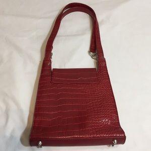 Bags - Red faux snake skin purse handbag